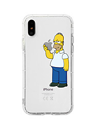cheap -Case For Apple iPhone XS / iPhone XR / iPhone XS Max Shockproof / Dustproof / Transparent Back Cover Transparent / Cartoon TPU