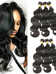 cheap -6pcs lot mix size 8 30inch malaysia virgin straight hair natural black human hair weave hot sale