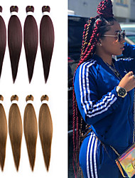 cheap -Laflare Gifts Crochet Hair Braids Dreadlocks / Faux Locs Matte Synthetic Hair Medium Length Hair Extension Hair weave 3 Pieces Synthetic Extention Best Quality Women's Christmas Christmas Gifts