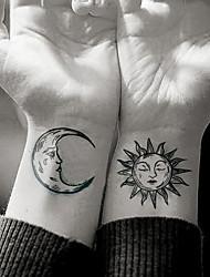 Недорогие -5 шт. Водонепроницаемый временные татуировки наклейки сексуальная луна солнце поддельные татуировки татуировки татуировки татуировки наклейки на шею бедра ноги для девушки женщины