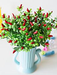 Недорогие -1 шт. Моделирования маленький перец вода трава пена перец 7 вилка маленький красный перец гостиная столовая украшения моделирование поддельные украшения цветок