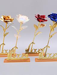 Недорогие -24k золотая фольга роза с базовым днем рождения день святого валентина