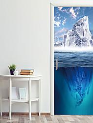 cheap -Sea Glacier Door Stickers Decorative Waterproof Door Decal Decor