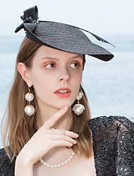 cheap -Polyester Fascinators / Headwear with Feather 1pc Casual / Daily Wear Headpiece