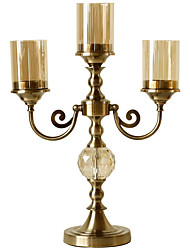 cheap -Modern Contemporary Iron Candle Holders Candelabra 1pc, Candle / Candle Holder