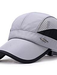 Недорогие -Муж. Классический Шляпа от солнца Полиэстер,Однотонный Темно синий Серый Светло-синий