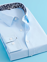 cheap -Men's Solid Colored Shirt Elegant Wedding Special Occasion Wine / White / Navy Blue / Light Blue