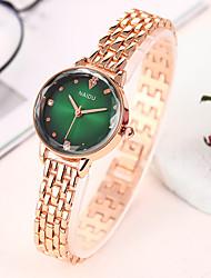 cheap -Women's Bracelet Watch Fashion Elegant Gold Alloy Chinese Quartz Black Gray Rose Red Imitation Diamond 1 pc Analog