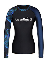 cheap -Women's Rash Guard Sun Shirt Swim Shirt UV Sun Protection Quick Dry Long Sleeve Swimming Surfing Water Sports Painting Patchwork Autumn / Fall Spring Summer / Stretchy