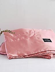 abordables -Confortable - 1 Couvre-lit Printemps & Automne Mocrofibres Couleur Pleine