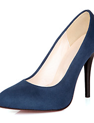 cheap -Women's Heels Stiletto Heel Microfiber Fall / Spring & Summer Red / Blue / Black / Party & Evening / Daily / Party & Evening