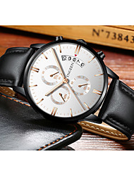 cheap -Men's Dress Watch Quartz Formal Style Stylish Leather Black 30 m Calendar / date / day Analog Luxury Fashion - Black Black / White Black / Rose Gold One Year Battery Life