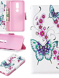 cheap -Case For Nokia 3.2 / Nokia 6 2018 Magnetic / Flip / with Stand Full Body Cases Butterfly Hard PU Leather for Nokia 1 / Nokia 1 Plus / Nokia 2/Nokia 2.1/Nokia 3.1/Nokia 5.1/Nokia 4.2/Nokia 8/Nokia 7.1