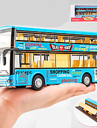 cheap -Toy Car Bus Double-decker Bus Construction Truck Set Simulation Metal Alloy Plastic Mini Car Vehicles Toys for Party Favor or Kids Birthday Gift / Kid's