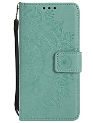 cheap -Case For Samsung Galaxy S6 edge / S6 / S5 Wallet / Shockproof / Flip Full Body Cases Flower Hard PU Leather