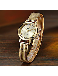 cheap -Women's Quartz Watches Quartz Formal Style Modern Style Casual Creative Stainless Steel Silver / Gold / Rose Gold Analog - Rose Gold White Blushing Pink