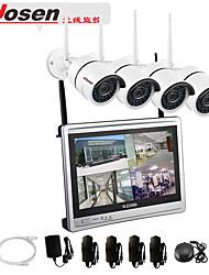 Недорогие -Все-в-1 система беспроводных камер видеонаблюдения с 12-дюймовым ЖК-монитором, 4-канальный 1080p, домашний Wi-Fi, видеонаблюдение, видеорегистратор, комплект с 4шт. 2-мегапиксельной камерой