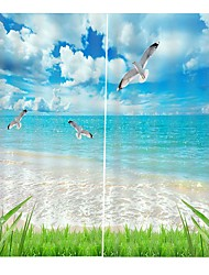 cheap -Contemporary 3D Print High Definition Landscape Map Home Decoration Sunshade Waterproof Mildew-proof Bath Curtain Office Bedroom Sound-proof Dust-proof Curtain