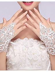 abordables -Dongguan ho10701q1e59 mariée marié gants de dentelle gants perlés doigt perlé blanc