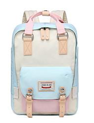 cheap -Large Capacity Polyester Zipper School Bag Daily Black / Blushing Pink / Gray