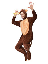 cheap -Monkey Costume Men's Animal Halloween Performance Cosplay Costumes Theme Party Costumes Men's Dance Costumes Polyester Split Joint