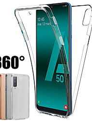 cheap -360 Degree Case for Samsung Galaxy A70 A50 A40 A30 A20 A10 A9 2018 A7 2018 A8 Plua 2018 A8 2018 A6 Plus 2018 A6 2018 Silicone Cover 2 in 1 Front Back Soft TPU Case