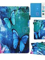 cheap -Case For Apple iPad Air / iPad Mini 3/2/1 / iPad Mini 4 Card Holder / with Stand / Pattern Full Body Cases Butterfly PU Leather