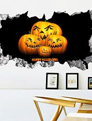 cheap -Weird Pumpkin Halloween Wall Stickers - Animal Wall Stickers Animals / Landscape Study Room / Office / Dining Room / Kitchen