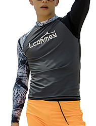 cheap -LCDRMSY Men's Rash Guard Dive Skin Suit Diving Suit UV Sun Protection Quick Dry Long Sleeve Swimming Diving Surfing Painting Summer / Micro-elastic