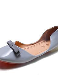 cheap -Women's Flats Flat Heel Bowknot PU Casual Spring Red / Blue / Beige