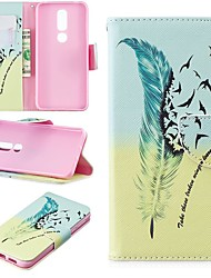 cheap -Case For Nokia 4.2/Nokia 3.2 Magnetic / Flip / with Stand Full Body Cases Feathers Hard PU Leather for Nokia 1 Plus/Nokia 2/Nokia 2.1/Nokia 3.1/Nokia 5.1/Nokia 7.1/Nokia 8/Nokia 6