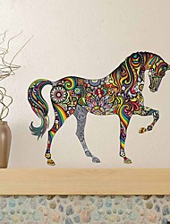 cheap -Self-Adhesive Waterproof Living Room Sofa And Home Background Wall Sticker For Color Horse Wall Of Decorative Wall Stickers - Plane Wall Stickers Animals Kids Room / Nursery