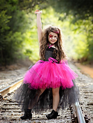 cheap -Train Tail Cosplay Unicorn Tutu Dress Kids Rainbow Princess Children Girls Tulle Birthday Party Wear