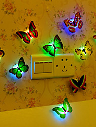 cheap -Creative Colorful Butterfly LED Stick-Anywhere Night Light Lamp Random Style