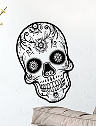 cheap -Halloween Skull Wall Stickers - Words & Quotes Wall Stickers Characters Study Room / Office / Dining Room / Kitchen