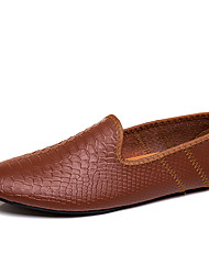 cheap -Men's Formal Shoes Microfiber Spring & Summer / Fall & Winter Business / Casual Loafers & Slip-Ons Breathable Black / Light Brown / Dark Brown