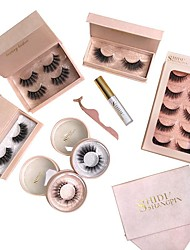 cheap -Eyelash Extensions 8 pcs Simple Women Ultra Light (UL) Comfortable Casual Convenient Animal wool eyelash Daily Wear Vacation Full Strip Lashes - Makeup Daily Makeup Classic Cosmetic Grooming Supplies