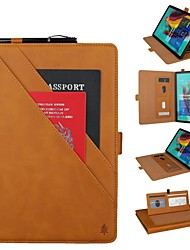 cheap -Phone Case For Samsung Galaxy Full Body Case Samsung Tab S5e T720 10.5 Samsung Tab A 10.1(2019)T510 Wallet Card Holder Shockproof Solid Colored Hard Genuine Leather