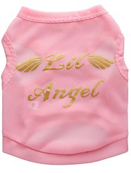 cheap -Dog Vest Puppy Clothes Quotes & Sayings Angel Sweet Style Casual / Daily Dog Clothes Puppy Clothes Dog Outfits Black Fuchsia Blue Costume for Girl and Boy Dog Polyester XS S M L