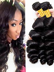 cheap -4 Bundles Brazilian Hair Loose Wave Virgin Human Hair 100% Remy Hair Weave Bundles Natural Color Hair Weaves / Hair Bulk Extension Bundle Hair 8-28 inch Natural Color Human Hair Weaves Odor Free Best