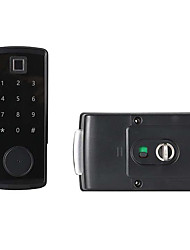 cheap -New zinc alloy material smart Bluetooth door lock password lock mobile APP remote unlock