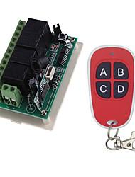 Недорогие -Smart Switch AK-RK04+AK-FS04 для Повседневные / Автомобиль / Спальня Дистанционно управляемый / Креатив / Простота установки Пульт управления Беспроводное 12 V