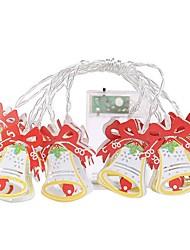 cheap -1.5m String Lights Christmas Bells 10 LEDs Warm White Christmas Decorative AA Batteries Powered 1set