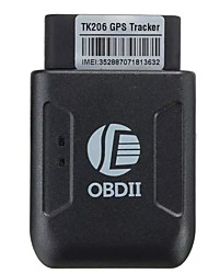 cheap -TK206 Car Truck Vehicle Mini GPS Tracking Tracker Real-time OBD II GSM GPRS