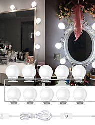 cheap -LED Mirror Light Makeup 5V Light Studio Bathroom Mirror Fill Light LED Bulb Cosmetic Dressing Lamp 10 Bulbs  Adjustable Brightness Lights