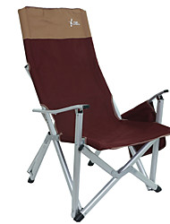 cheap -Camping Chair with Side Pocket Portable Anti-Slip Foldable Comfortable Aluminum Alloy for 1 person Camping Camping / Hiking / Caving Traveling Picnic Autumn / Fall Spring Yellow Burgundy