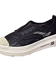 cheap -Women's Loafers & Slip-Ons Comfort Shoes Creepers Mesh Casual Spring Black / Coffee / Daily