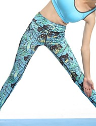 cheap -Women's High Waist Yoga Pants Leggings Butt Lift Breathable Quick Dry Royal Blue Nylon Gym Workout Fitness Sports Activewear Stretchy Skinny / Moisture Wicking