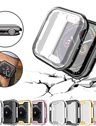 cheap -Ultra-Slim Plating TPU Protective Bumper Case Cover For Apple Watch Series 4/3/2/1 40/44/38/42mm