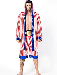 cheap -Wrestler Costume Men's Sports Halloween Performance Cosplay Costumes Theme Party Costumes Men's Dance Costumes Polyester Stripe